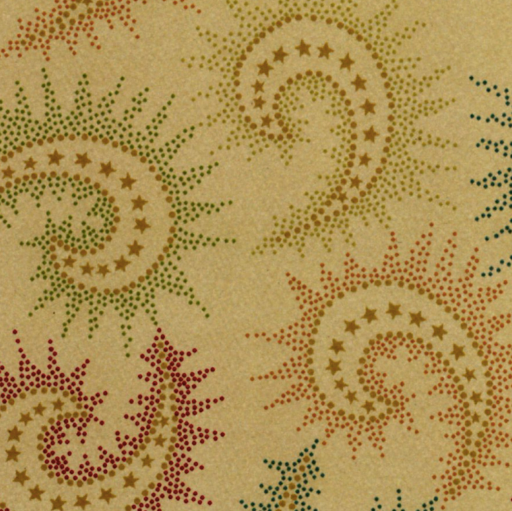 Dark Tan Spiced Paisley 108in Wide - The Modern Quilting Company