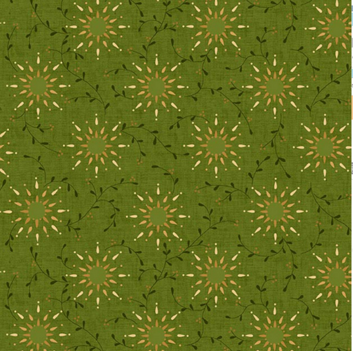 Green Prairie Vine 108in Wide Backing - The Modern Quilting Company