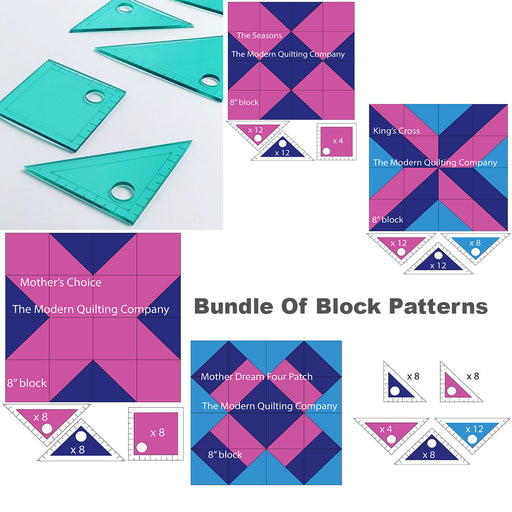 Quilt Block Bundle with Acrylic Pattern Templates - The Modern Quilting Company