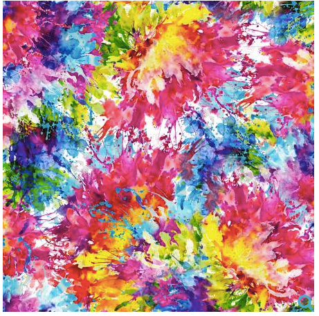 Multi Bright Splash 108in Wide Back Digitally Printed - The Modern Quilting Company