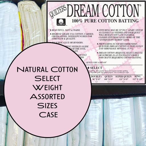 Dream Cotton Natural Select Weight Assorted Size Case - The Modern Quilting Company