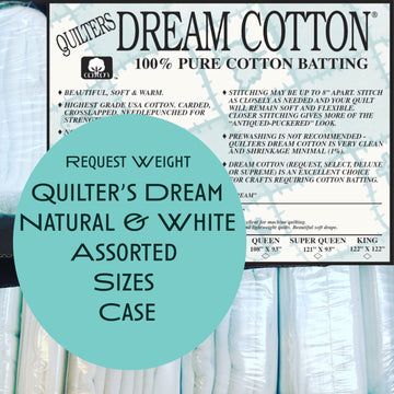 Natural & White 100% Cotton REQUEST Assorted Sizes Case