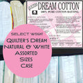 Natural & White 100% Cotton SELECT Assorted Sizes Case