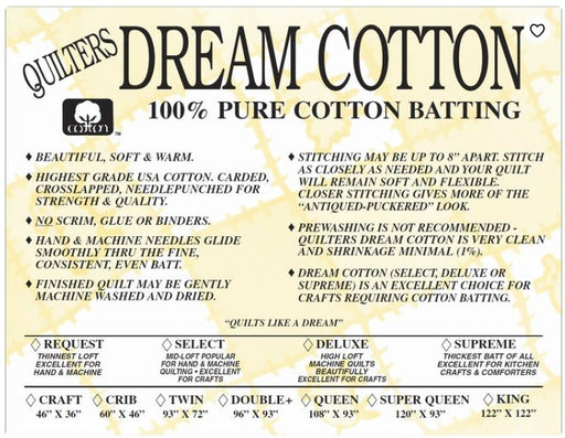 Natural Cotton Supreme (Heaviest Loft) - The Modern Quilting Company