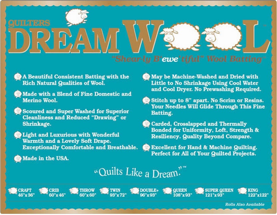 Quilter's Dream Wool Batting - The Modern Quilting Company