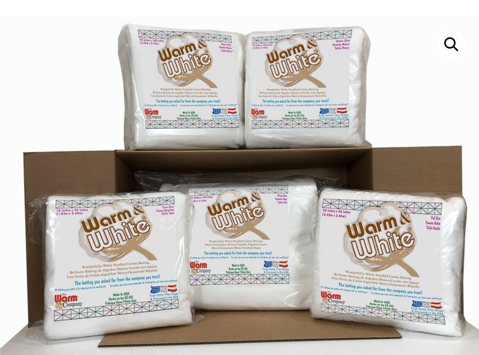 Warm & White Assorted Sizes Case - The Modern Quilting Company