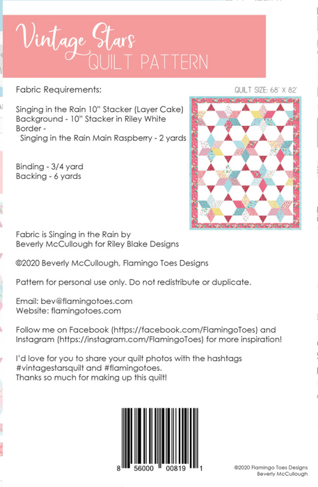 Oversized Vintage Star Quilt Pattern - The Modern Quilting Company
