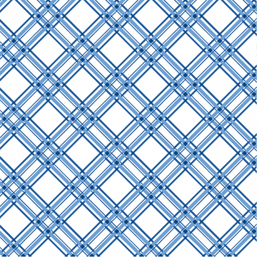 Blue Diagonal Plaid