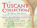 Batting Tuscany Bleached Cotton 96in x 30yds