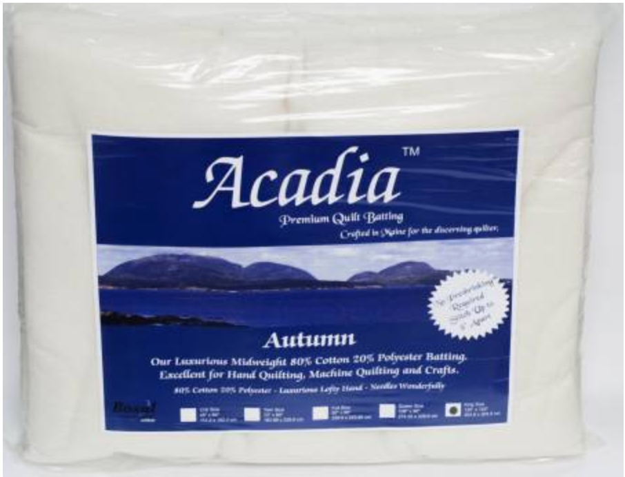 Acadia Premium 80% Cotton 20% Polyester Batting 4oz 108in x 94in - The Modern Quilting Company