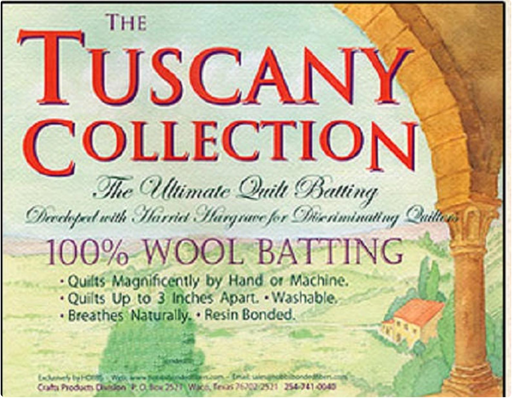 Batting Tuscany 100% Washable Wool 96in x 10yd Roll - The Modern Quilting Company