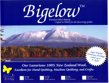 Bigelow 100% Wool Batting 45in x 60in