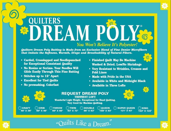 Quilters Dream Poly Request (Thinnest Loft)