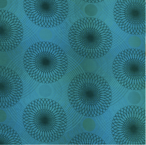 PRE-Order Spiral Teal 108in Wide Back - The Modern Quilting Company
