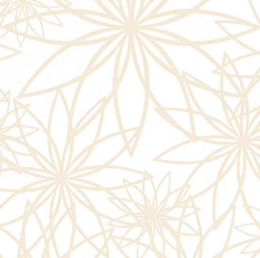 White/Cream Star Flower 108in Wide Back - The Modern Quilting Company