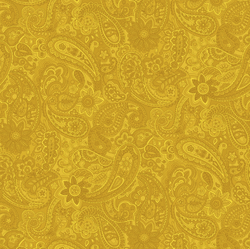 Yellow Paisley 108in Wide Back - The Modern Quilting Company
