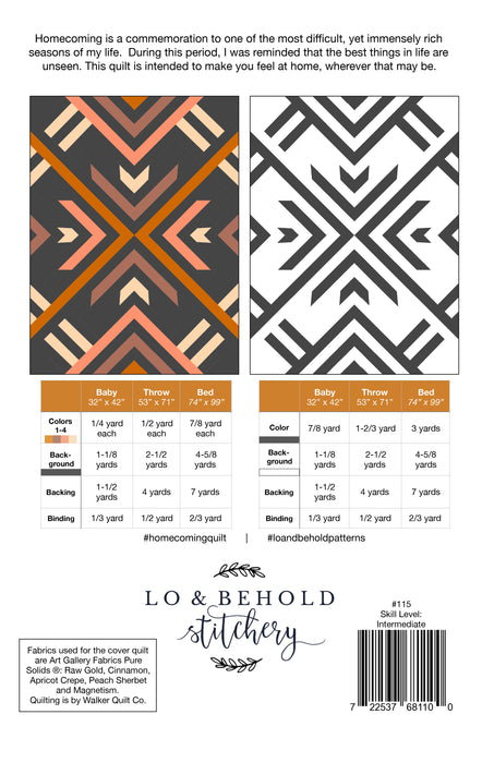 Homecoming by Lo & Behold Stitchery - The Modern Quilting Company