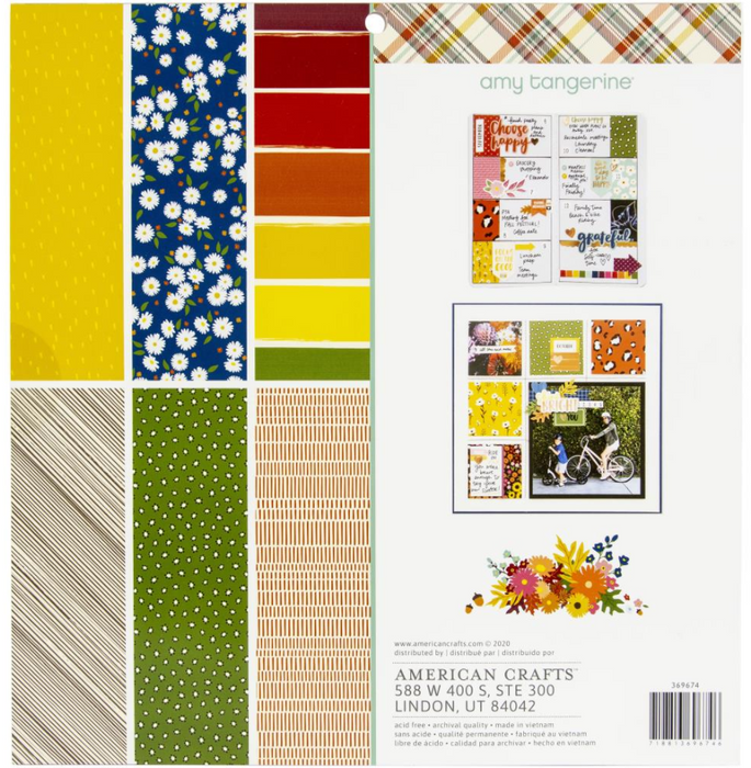 "American Crafts Single-Sided Paper Pad 12""X12"" 48/Pkg - The Modern Quilting Company"