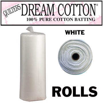 Quilter's Dream WHITE 100% Cotton Batting Rolls