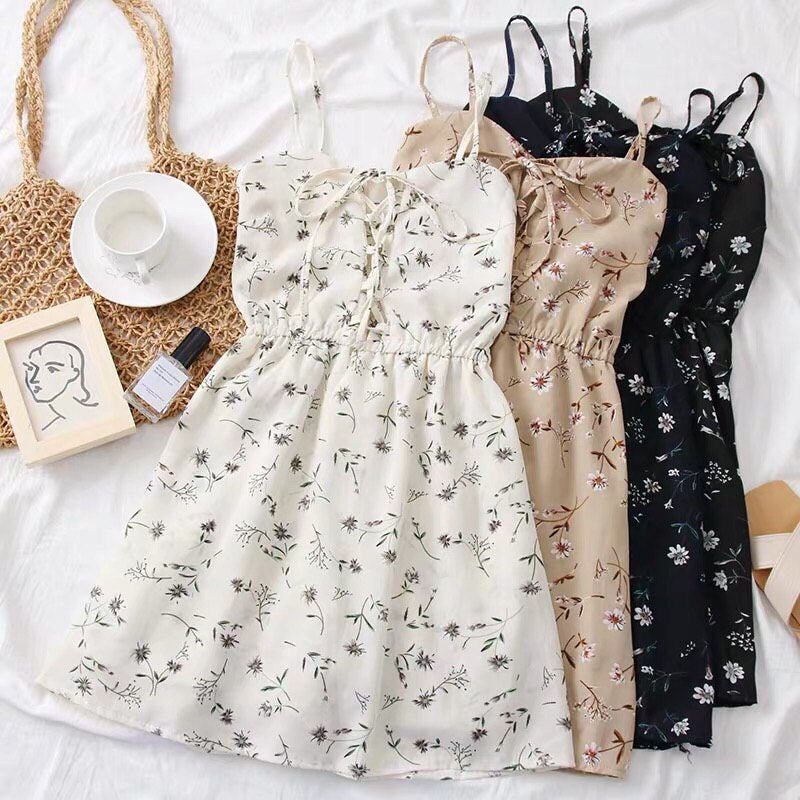 Helena Floral Shoelace Dress