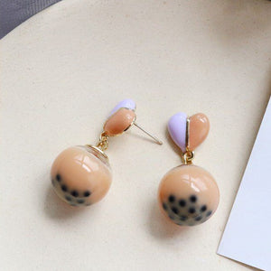 Boba Tea Earrings
