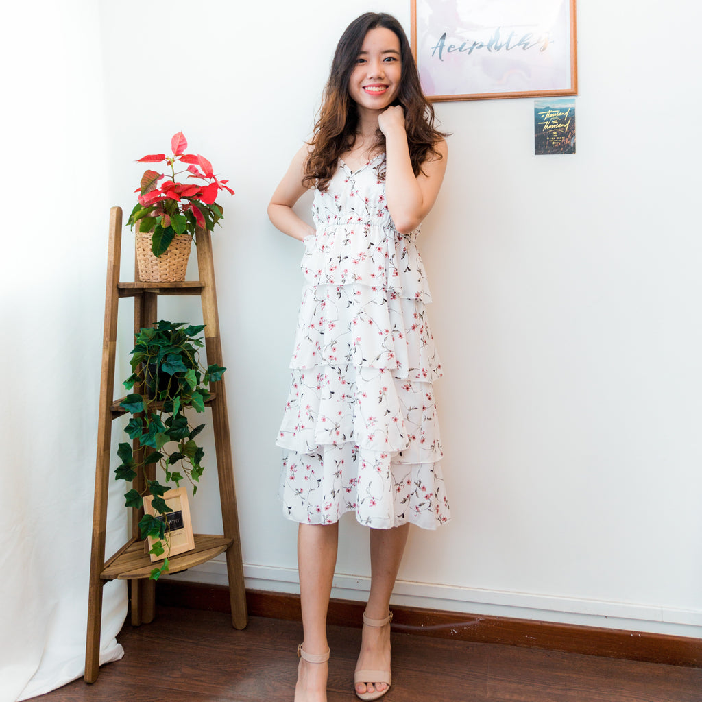 Olivia Floral Tiered Dress