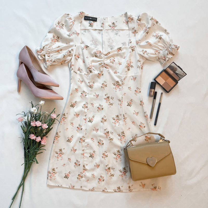 Kaela Floral Sweetheart Dress