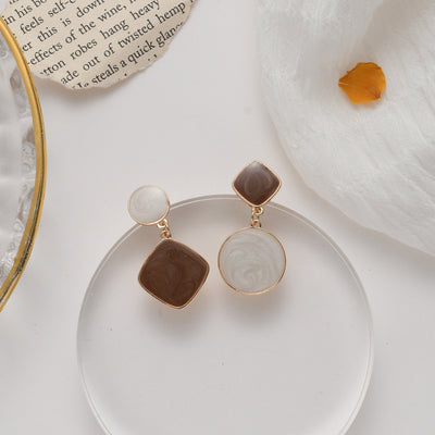 Priscilla Marble Earrings