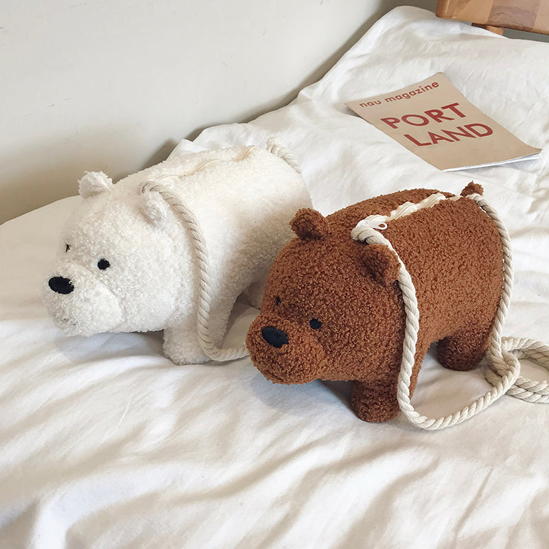 We Bare Bears Plush Bag