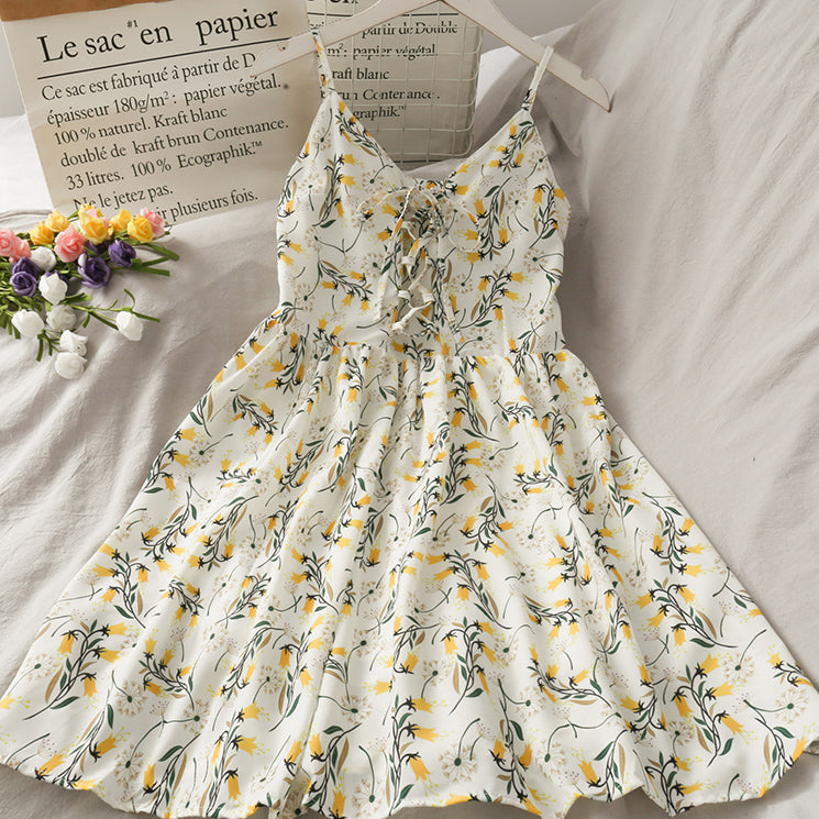 Dahlia Floral Shoelace Dress