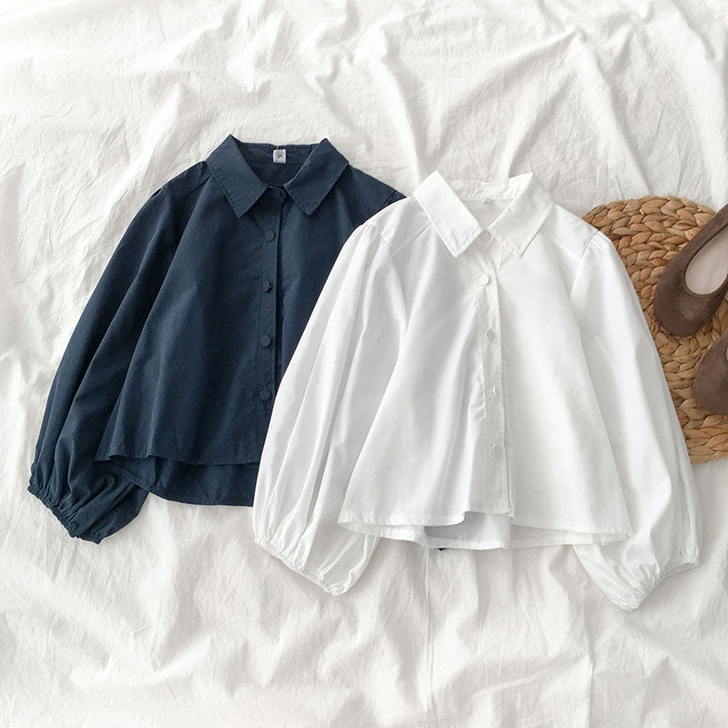 Basic Puff Collared Top
