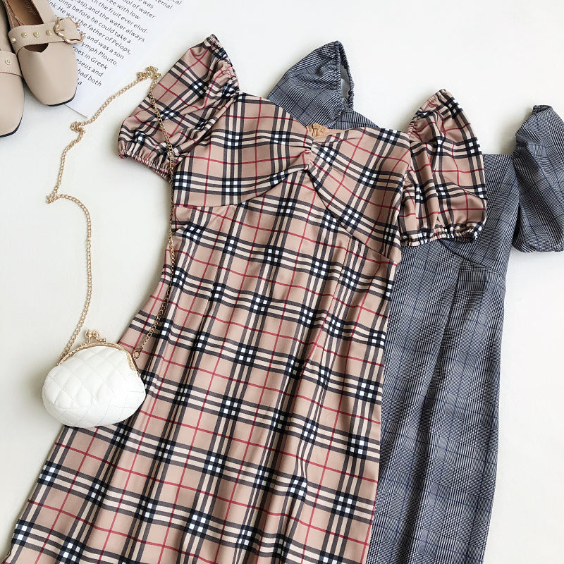 Lydia Tartan Sweetheart Dress