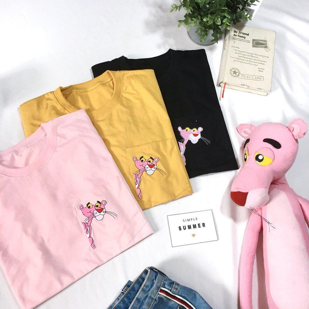 Pink Panther Pocket Oversized Tee