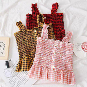Lindy Checkered Smock Top