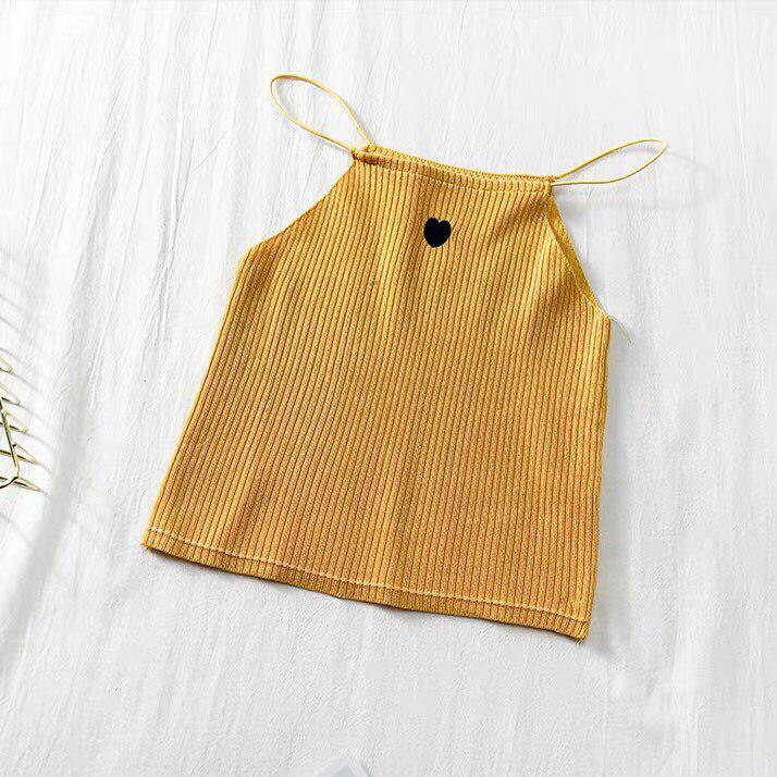 Heather Heart Knitted Cami Top