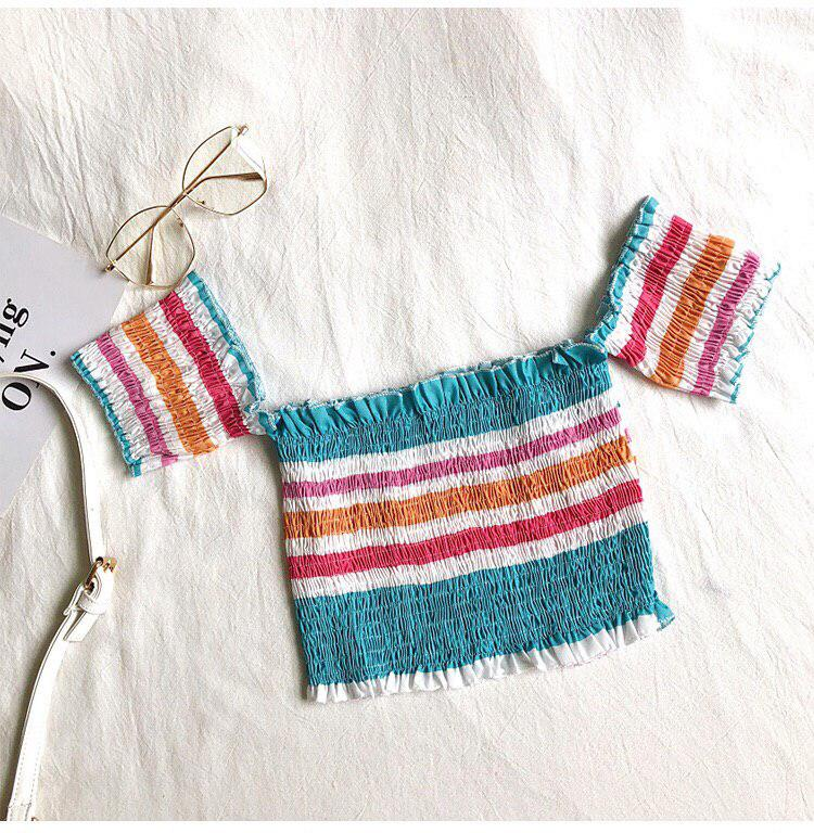 Smock Stripe Offsie Top