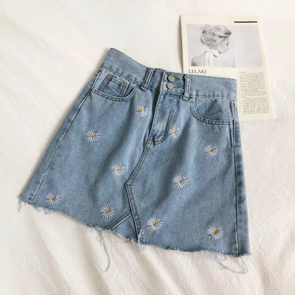 Daisy Denim Skirt