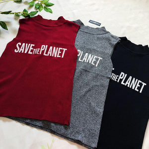 Save The Planet Knitted Top