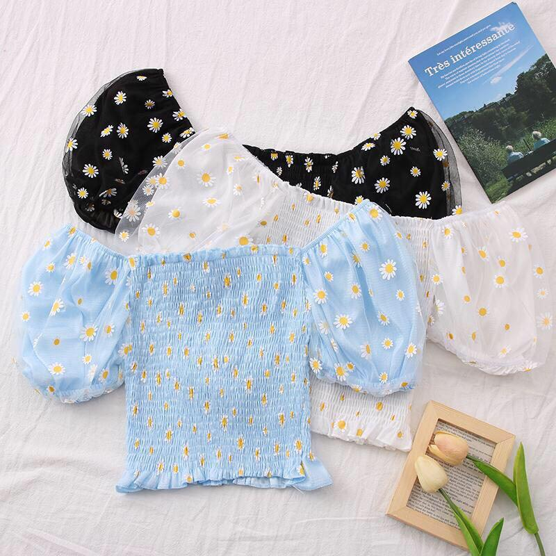 Daisy Puff Offsie Top