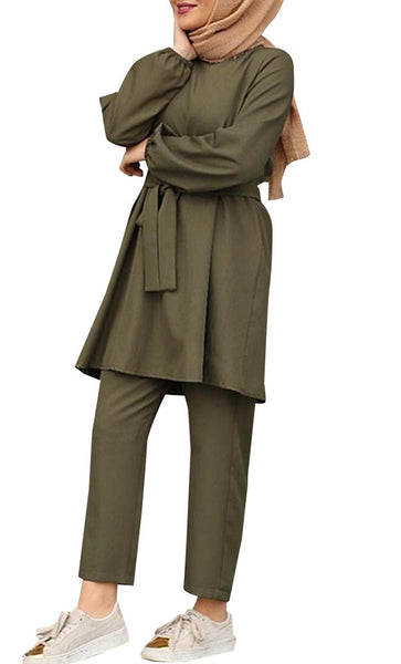 Everyday Casual Set (Army Green) - *Size Up*