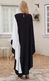 Contrast Color Kaftan Abaya - *Size Up*