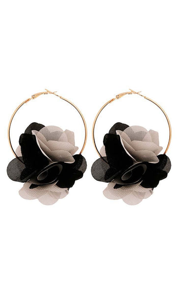 3-D Floral Earrings - EastEssence.com