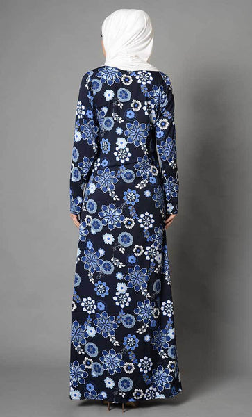 Floral Printed Crepe Abaya_As Pictured_Alt_View