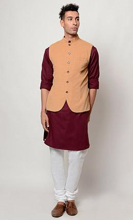 Party wear Kurta pajama and vest dress