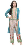 Beige Muslin Printed Kurti- Final Sale