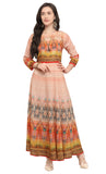 Pink Art Silk Printed Kurti-Final Sale