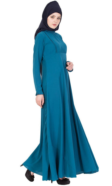 Fun and Frill abaya dress-Final sale_As Pictured_Side_View