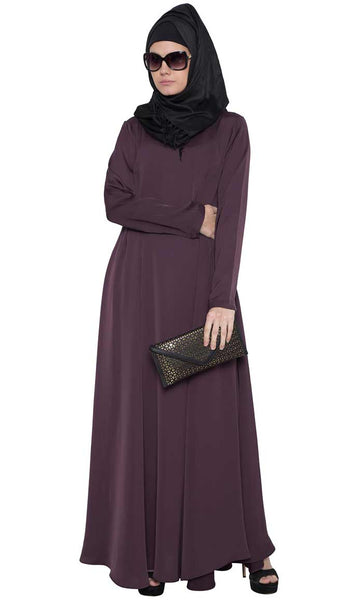 Umbrella Flare Abaya Dress with Box Pleats-Final sale