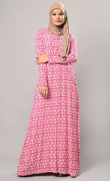 Pretty pink everyday abaya-Final Sale