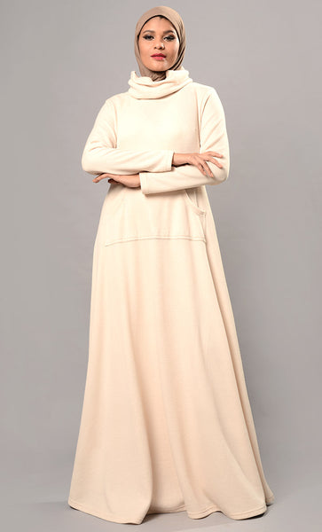 Regular Jersey abaya dress